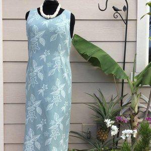 Vintage Hawaiian Dress Pineapple Moon Silk